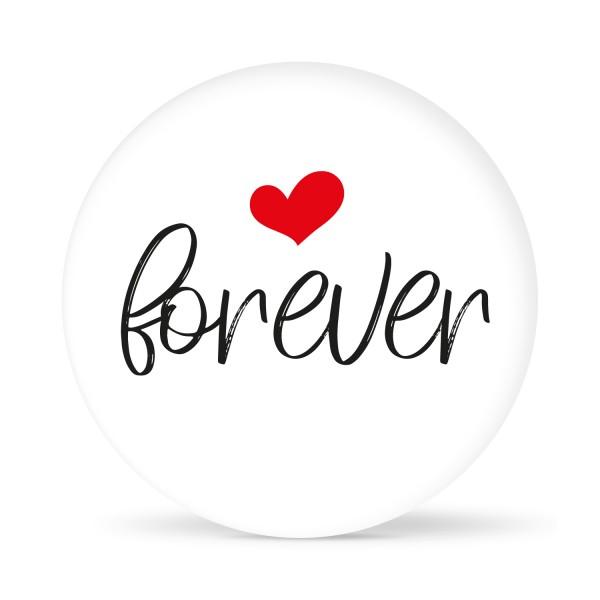 """Aufkleber """"Forever"""" weiß (24 St.)"""