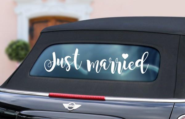 """Auto-Aufkleber """"Just Married"""" Louisa in 3 Größen"""