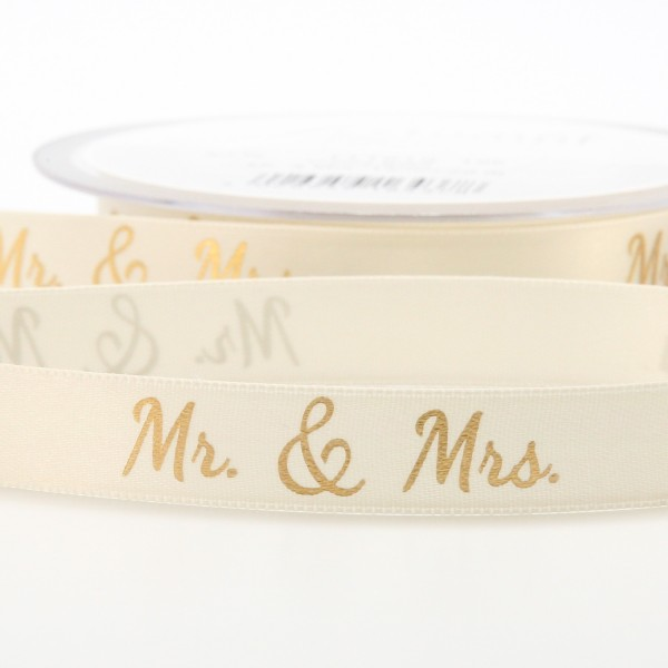"Dekoband ""Mr. & Mrs."" gold (15mm) - 20m"