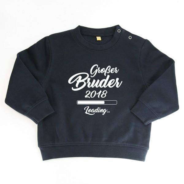 """Sweater """"Großer Bruder loading"""" Dunkelblau"""