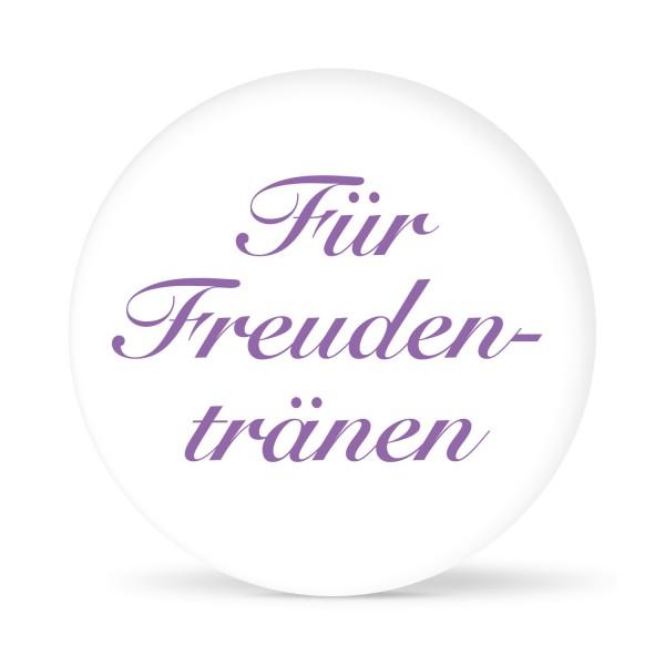 """Aufkleber """"Für Freudentränen"""" weiß (24 St.)"""
