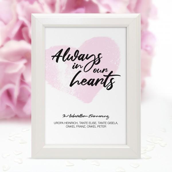 "Poster Erinnerung ""Heart"" - personalisiert"