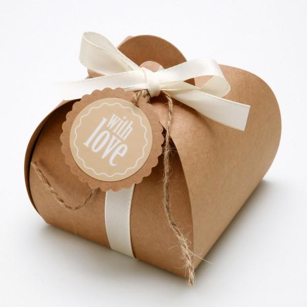 """Geschenkbox mit Griff """" Natur"""""""