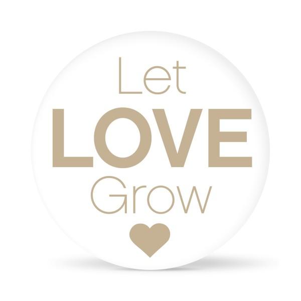 """Aufkleber """"Let Love grow Heart"""" weiß (24 St.) in 13 Farben"""