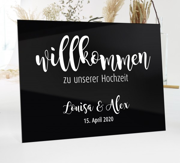 "Aufkleber ""Willkommen"" Louisa - personalisiert in 3 Farben"