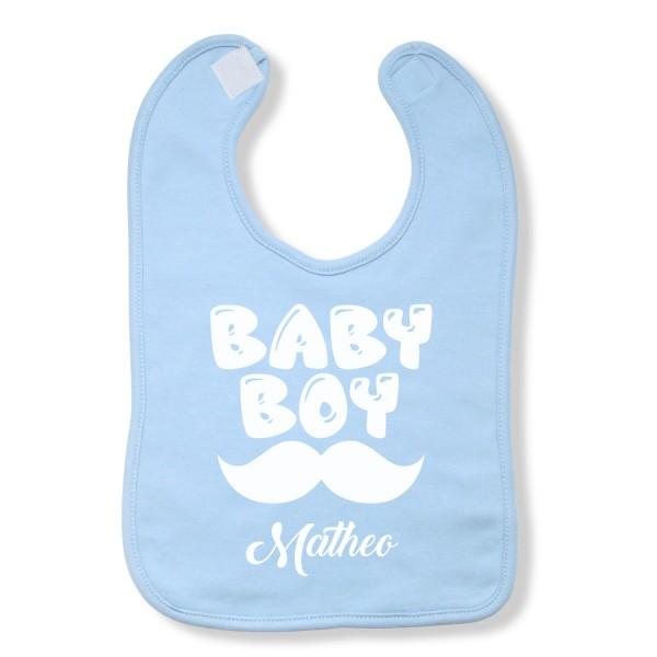 """Lätzchen Baby-Boy """"Hellblau"""" - personalisiert"""