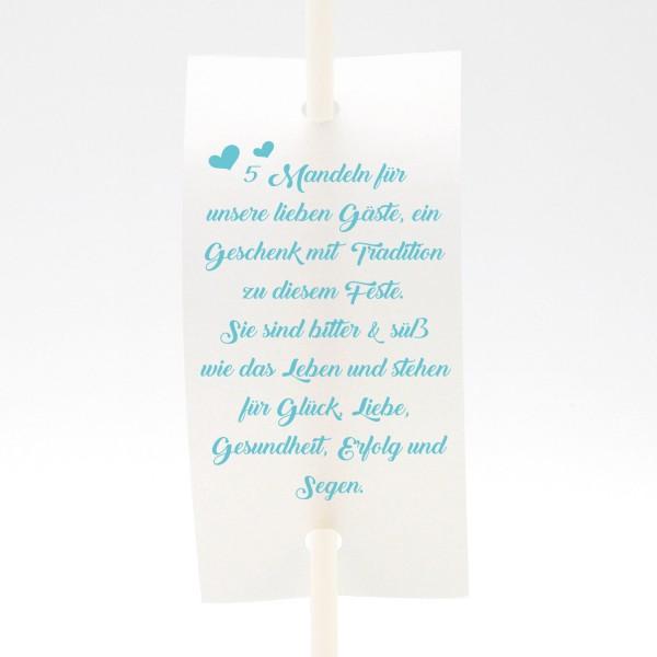 """Anstecker-Set """"5 Mandeln ..."""" (6 St.) in 13 Farben"""
