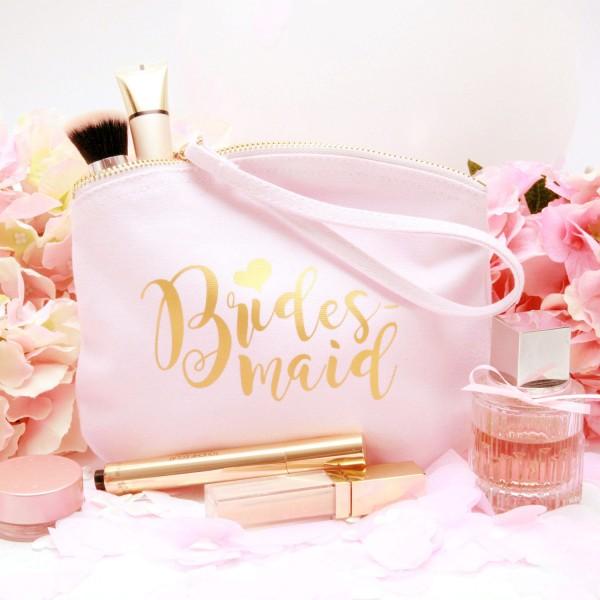 """Kosmetikbeutel """"Rosa"""" Bridesmaid in 2 Größen"""
