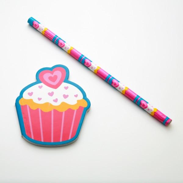 """Schreibset Cupcake """"Heart"""""""