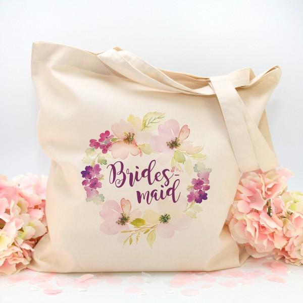 """Stofftasche """"Natur"""" Flower Bridesmaid (38x42cm)"""